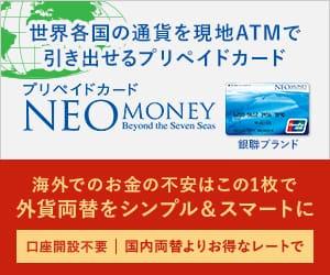 シンプル&スマートなプリペイドカード【NEOMONEY銀聯カード】