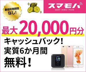 謝礼UP!!【スマモバ】キャンペーン中でさらにお得に!!格安SIM「5ギガプラン」登録モニター