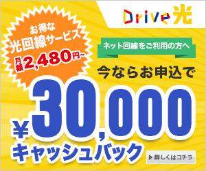 NTT光回線+プロバイダ=Drive光