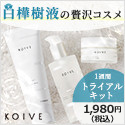 【KOIVE(コイヴ)】ミネラルたっぷり!白樺樹液の化粧品